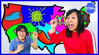 THROWING A DART AT A MAP AND DOING WHATEVER IT LANDS ON CHALLENGE! MOMMY VS. DADDY!