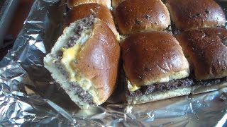 Easy Oven Hamburgers (Mini Square Hamburgers)