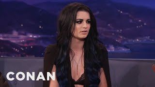 """Paige: """"I've Had A Bruised Boob Or Two""""  - CONAN on TBS"""