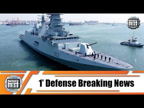Egyptian Navy receives frigate ENS Bernees 1003 FREMM Carlo Bergamini-class Alexandria Naval Base