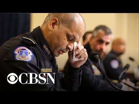 Officers give emotional testimony at Capitol riot committee hearing