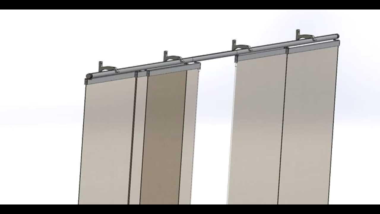 panneaux japonais 5 coulissants 2m80 secodir deco youtube. Black Bedroom Furniture Sets. Home Design Ideas
