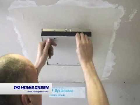 Fitting Access Panel Into Plasterboard Ceiling Hinged