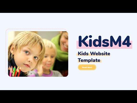 Children Website Theme | KidsM4