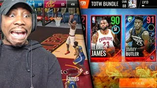 90 OVR LEBRON JAMES GAMEPLAY & TOTW PACK OPENING! NBA Live Mobile 18 Ep. 21