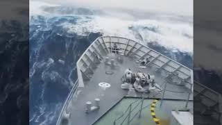 Horrible but Amazing footage of Storm in Atlantic ocean,  2017