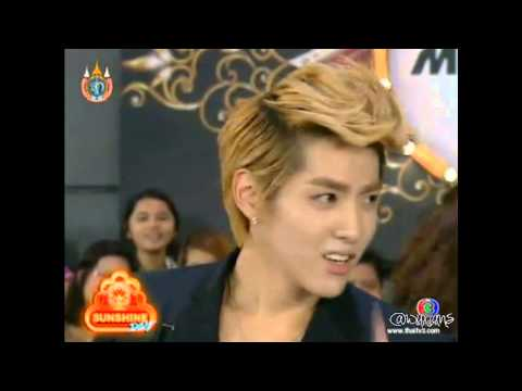 120812 Sunshine Day - KRIS speaking in Thai cut