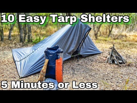 10 Tarp Shelter Setups for Camping & Bushcraft in 5 Minutes or Less