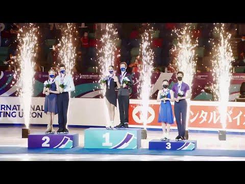 Церемония награждения. Танцы на льду. Красноярск. Гран-при по фигурному катанию среди юниоров 2021/2