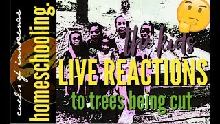 ╰☆╮Live Reactions: Kids React To Trees Being CUT DOWN In Our Neighborhood