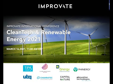 Improvate International Conference Cleantech & Renewable Energy 2021. Full Broadcast