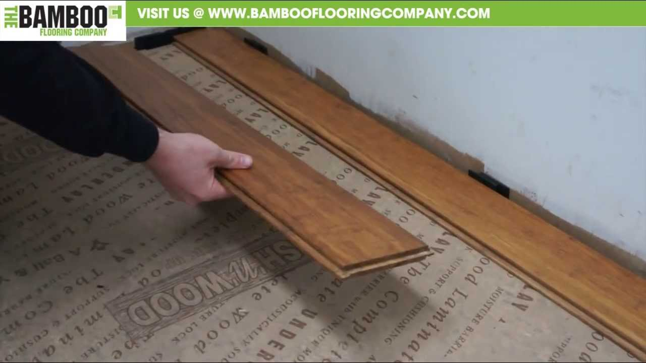 How To Install Uniclic Bamboo Flooring Youtube