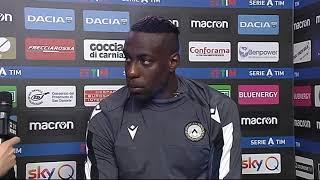 12 gennaio 2020   Udinese - Sassuolo 3-0   intervista Okaka post partita