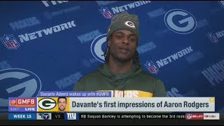 Davante Adams's first impressions of Aaron Rodgers | Good Morning Football