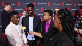 CALEEL HARRIS, ETHAN HERISSE & ASANTE BLACKK DISCUSS WHEN THEY SEE US ROLES