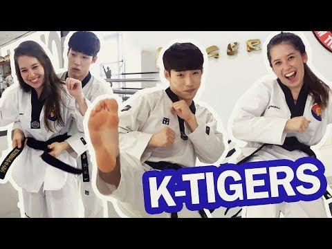 APRENDENDO TAEKWONDO COM K-TIGERS | Learning Taekwondo with K-Tigers #KoreaJoa2017