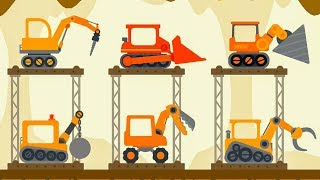 Truck Construction The Excavator - Dinosaur Digger 3 – The Truck - Digger Cartoons for Children