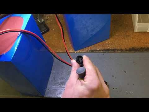 Blue battery XLR plug repair
