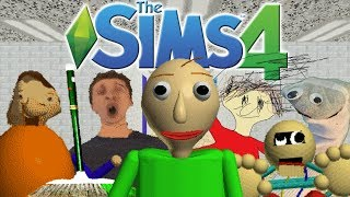 The Sims 4: Baldi's Basics in Education and Learning (CAS, School Build, 7/7 Notebooks)