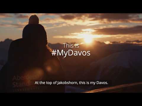 This is #MyDavos: The Sunset at Jakobshorn