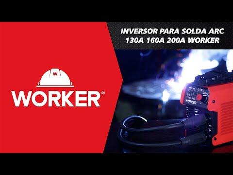Inversora de Solda Arc 130A 220V Worker - Vídeo explicativo