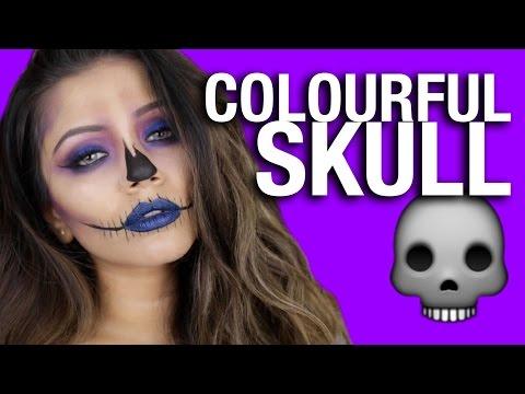 ? Colourful HALLOWEEN Skull Makeup Tutorial ?
