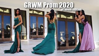 GET READY WITH ME: PROM 2020 *at home edition*