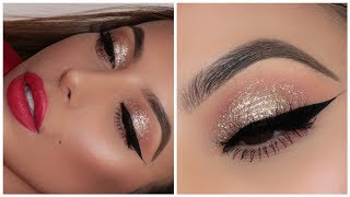 GOLD CHRISTMAS / NEW YEARS EVE PARTY MAKEUP