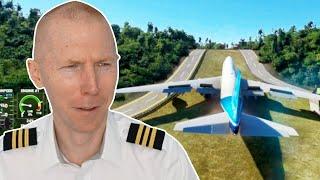 Boeing 747 Landing at St Barts | Microsoft Flight Sim 2020