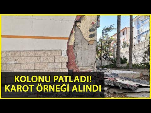 Ankara'da Kolonu Çatlayan Binadan Numune Alındı