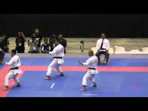 2011年JKA世界大会 団体戦男子形決勝 「壮鎮」