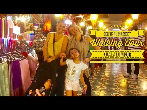 Central Market Pasar Seni Walking Tour Kuala Lumpur Malaysia