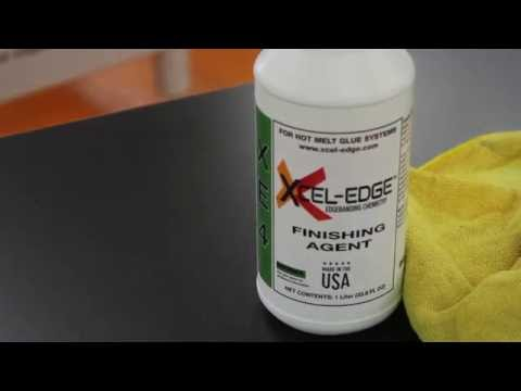 XCEL-EDGE XE4 Edgeband Finishing Agent Cleaning Test