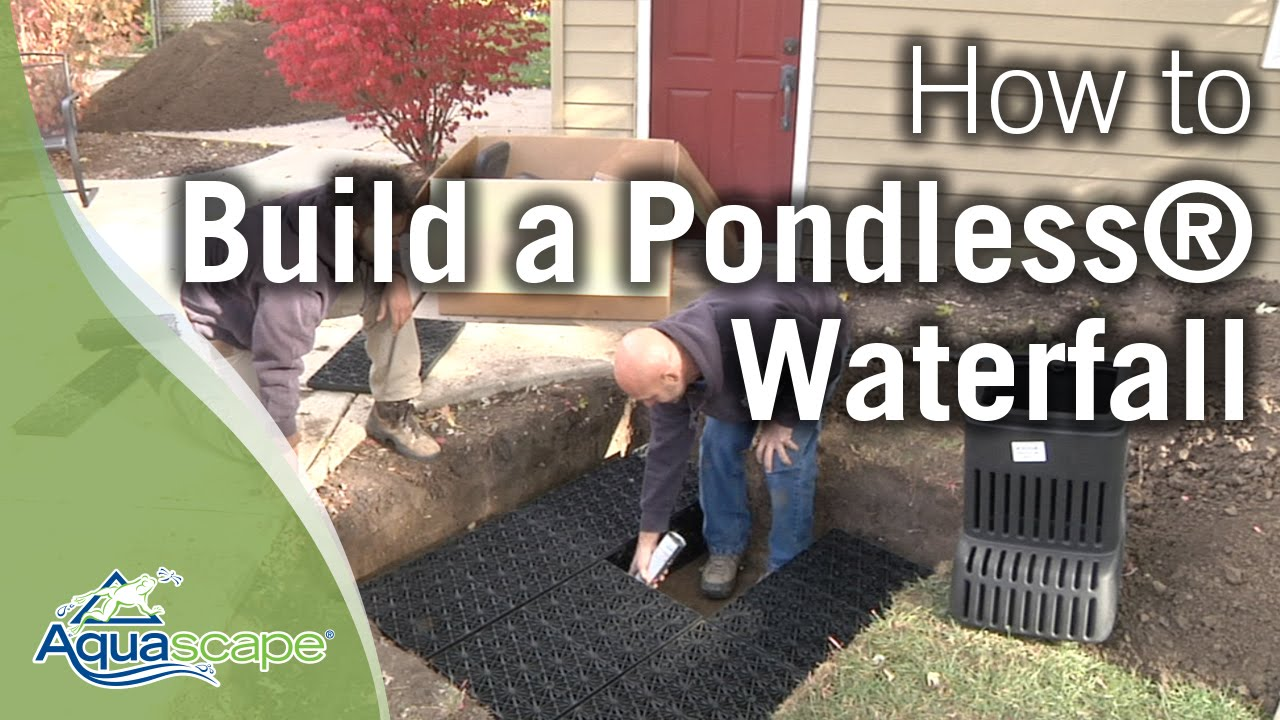 """Aquascape's """"NEW"""" How To Build a Pondless® Waterfall - YouTube"""