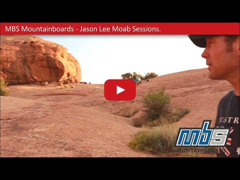 Riding Red - Moab Slickrock Mountainboarding - The J Lee Sessions