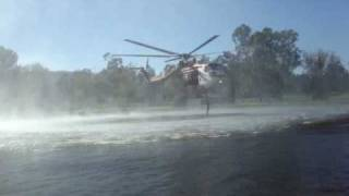 Sayre fire Sylmar fire helicopter water pick up