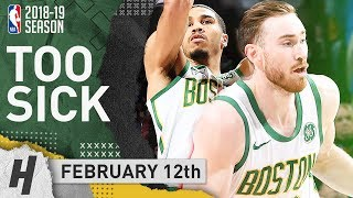 Gordon Hayward & Jayson Tatum Full Highlights Celtics vs 76ers 2019.02.12 - 26 Pts for Gordon