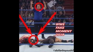 WWE Fake Moment Caught | 10000000% Real | With Proof |