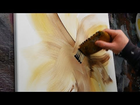 Abstract Painting demonstration with acrylic paint – Simple with nice colors – Magnolia