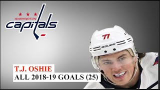T.J. Oshie (#77) All 25 Goals of the 2018-19 NHL Season