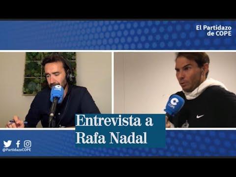 El Partidazo de la Cope entrevista a Rafa Nadal tras ganas su décimo tercer Roland Garros