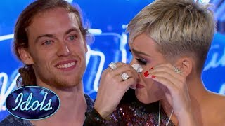 INSPIRATIONAL! American Idol Judge KATY PERRY CRIES During David Francesco's Audition | Idols Global