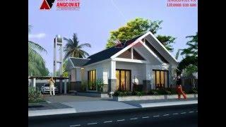 Mẫu thiết kế nhà 1 tầng mặt tiền 8m diện tích 110m2 mái thái hiện đại tại Bắc Ninh BT104016