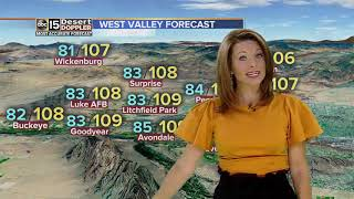 Temps remain steady around the Valley