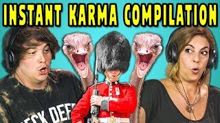 ADULTS REACT TO INSTANT KARMA COMPILATION