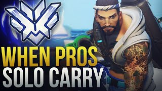WHEN OVERWATCH PROS SOLO CARRY #13 - Overwatch Montage