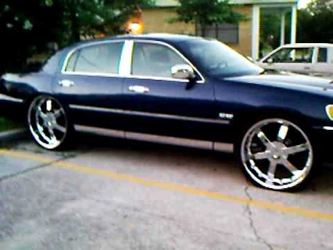 Re Lincoln Town Car On 24s Videomoviles Com