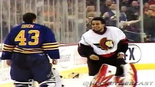 Buffalo Sabres vs Ottawa Senators Line Brawl 2007 (High Quality)