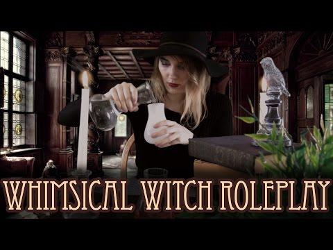 [BINAURAL ASMR] Whimsical Witch Roleplay (glass, books, water, visual, humming, salt)