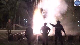 Bốn giàn pháo hoa nổ như Lựu ĐẠN trong đêm giao thừa ở Kiên Giang